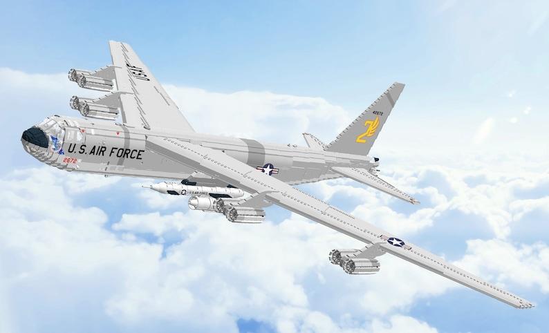 Lego LDD Digital Model: Boeing B-52 Stratofortress