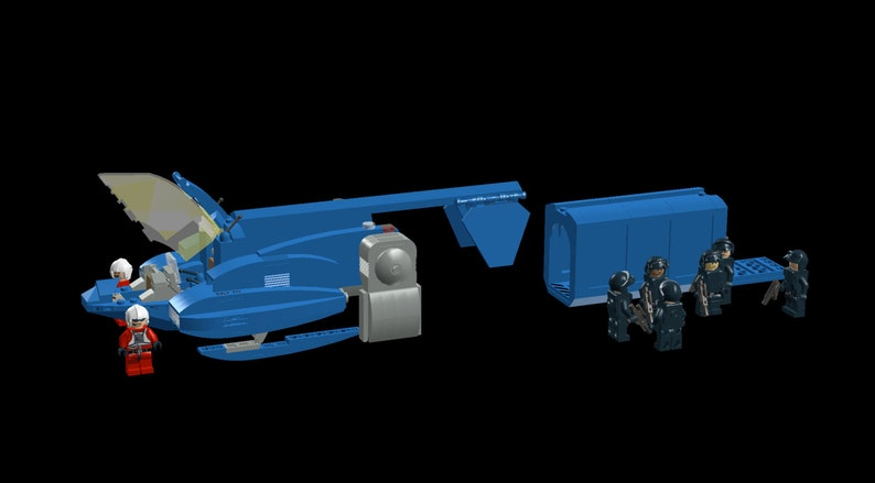 Lego Building Instructions: Neoclassic Space TST-100 Sparrow