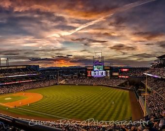 Photo Art - Sports Photography - Colorado Rockies