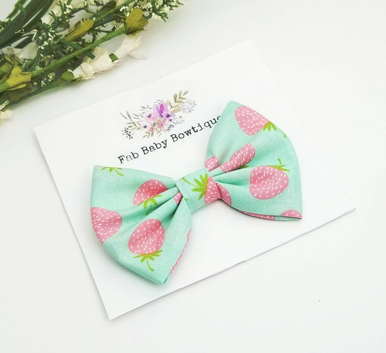 Easter pigtail bows Set of 2 pastel bright eggs bows hair clip small 2.5 inch