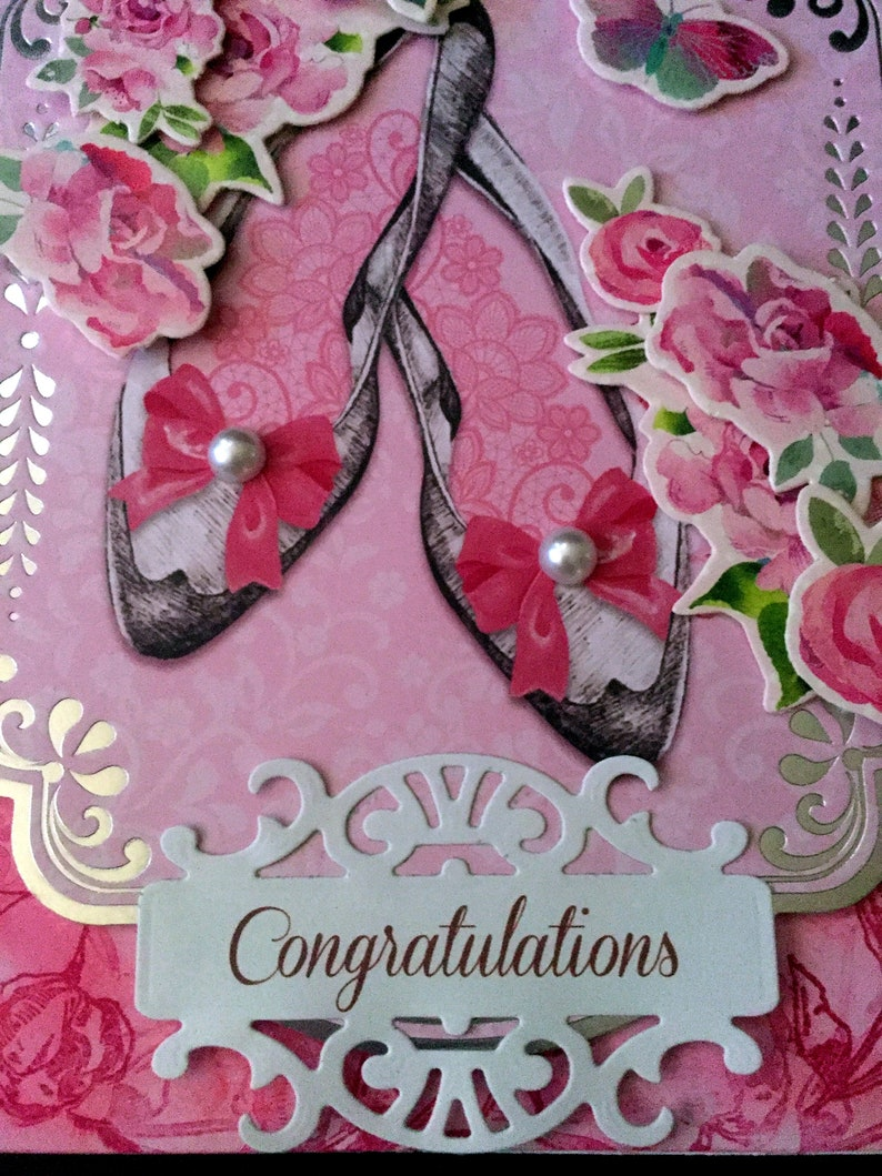Granddaughter Niece   This would be a prefect Bridal Shower card Daughter Bridal Shower full of pink and glam.