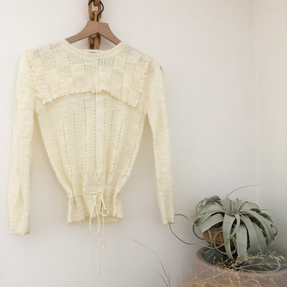 Vintage 70's 80's Collared Sweater