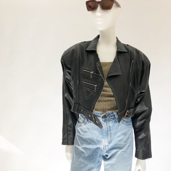 Vintage 80's Black Leather Jacket