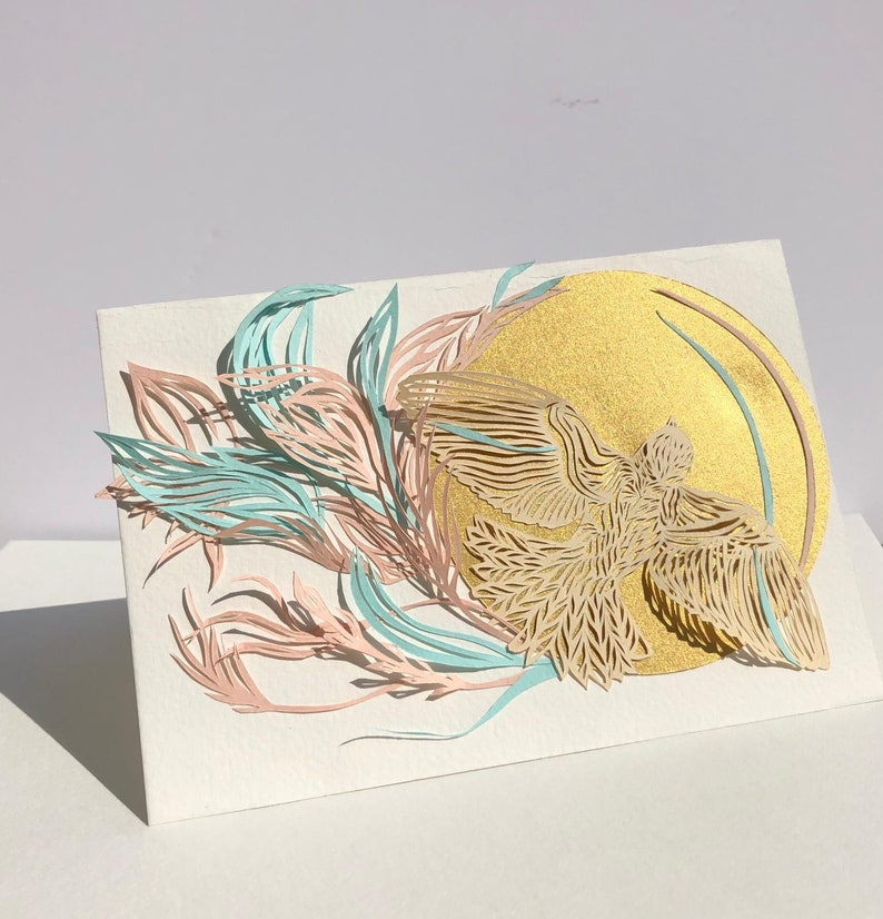 Hand Cut made to order handmade card.