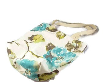 Canvas Tote Bag, Market Bag, Reusable Grocery Bag, Eco-friendly, Floral Bag, Handmade Tote, Tote Bag, Reusable Bag, Cute Bag