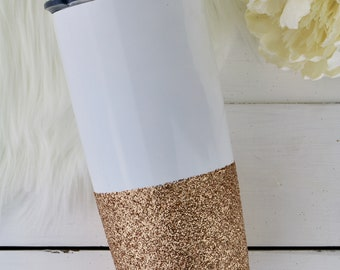 Custom Tumbler | Stainless Steel Tumbler | Personalized Tumbler | Powdered Coated Tumbler | Glitter Tumbler | Gift for Woman | Metal Tumbler