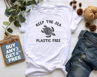 44633201 Keep The Sea Plastic Free T Shirt. Funny Turtle Shirt Animal Lover Gifts  Women Funny Graphic Shirt Friend Funny Animal Tshirt Cute Gifts