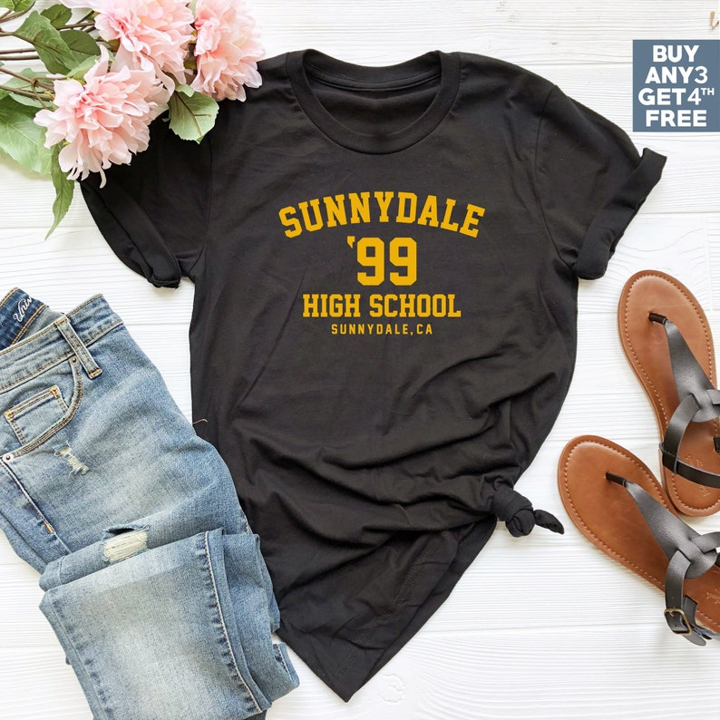 SUNNYDALE Retro T-Shirt NEW Halloween Costume TV Buffy the Vampire Slayer