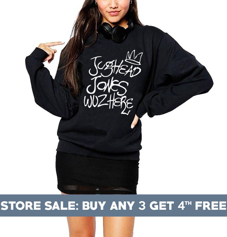 5e909ad823c Jughead Jones Wuz Here Sweatshirt. Women Gifts Funny Shirt