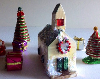 Christmas Town Village Accessories Unique Vintage Christmas Etsy