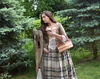 Scottish Dress 18th Century Dress Tartan Bodice Plaid   Etsy