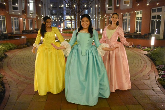Hamilton Schuyler Sisters Modest Halloween Costume ~Angelica~ Child Size 4 to 14