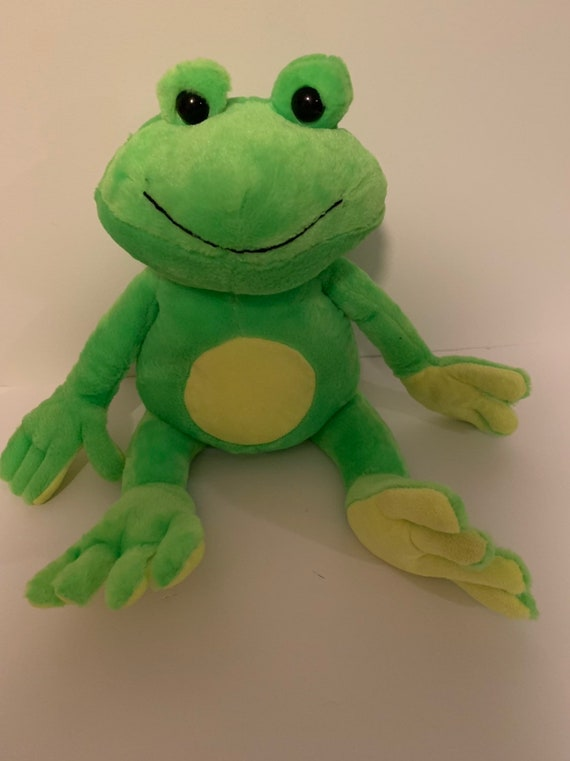 Weighted Stuffed Animal Frog Large 6 Lbs Sensory Toy Etsy