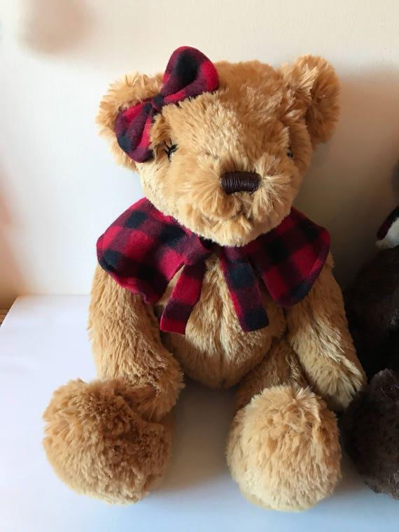 Weighted Stuffed Animal Teddy Bear 3 Lbs Sensory Toy Etsy