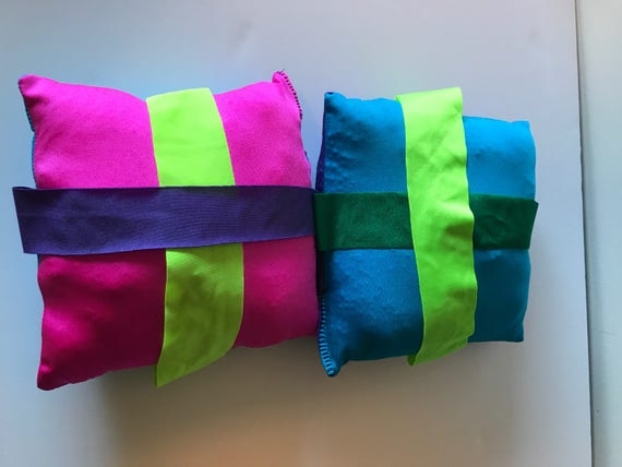 Large Weighted Fidget stretch pillow with stretch bands lycra pillow sensory toy fidget pillow 12 and 2 lbs sensory pillow