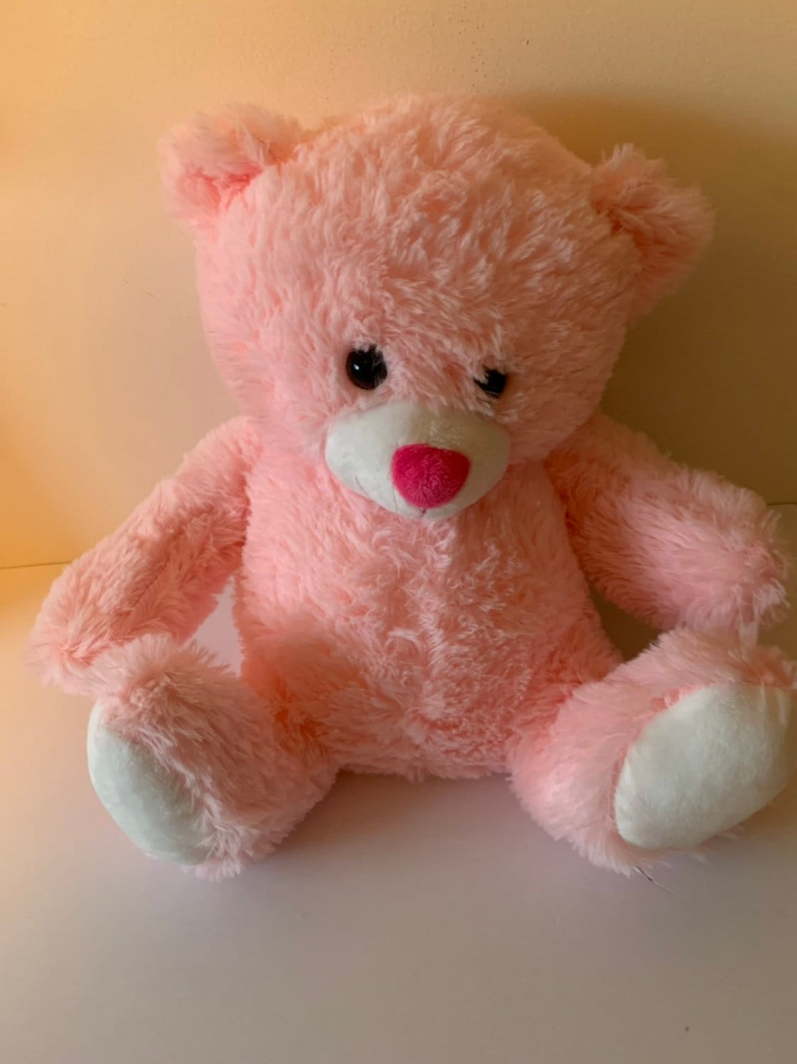 Weighted Stuffed Animal Pink Bear Sensory Toy 5 Lbs Washable