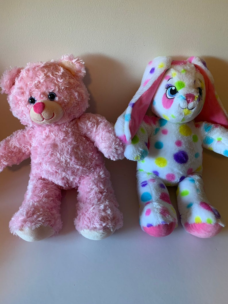 Weighted stuffed animal, bear or bunny , 3 lbs sensory toy - washable  weighted buddy
