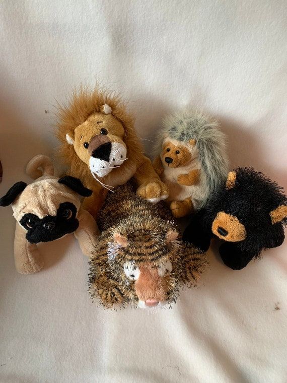 tiger Weighted stuffed animals with 1 1//2 lbs small lion bear or hedgehog autism sensory toy