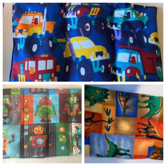 Large Weighted Lap Pad Monster Trucks Robots And Dinosaurs Etsy