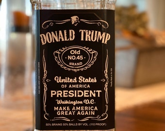 Trump Gifts, Donald Trump, Trump 2024, Naughty Gift, Political Gifts, Liquor labels, Adult Gift, Trump Label, Patriot,Send Positive Thoughts