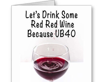 wine birthday card etsy