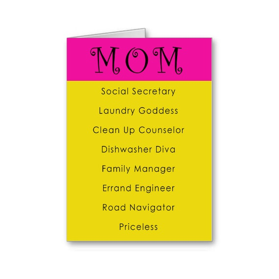 Supermom | Mother's Day Card | Happy Birthday Mom | Card for Mum | Funny Mother's Day | For Wife | Social Secretary | Send Positive Thoughts