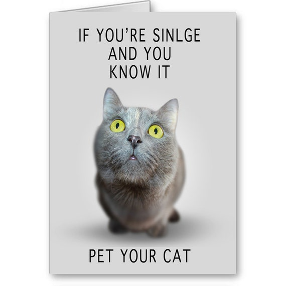 Valentine's Day Card for single person, Sarcastic Card, Funny Snarky Card, Singles Card, Break Up Card, Send Positive Thoughts