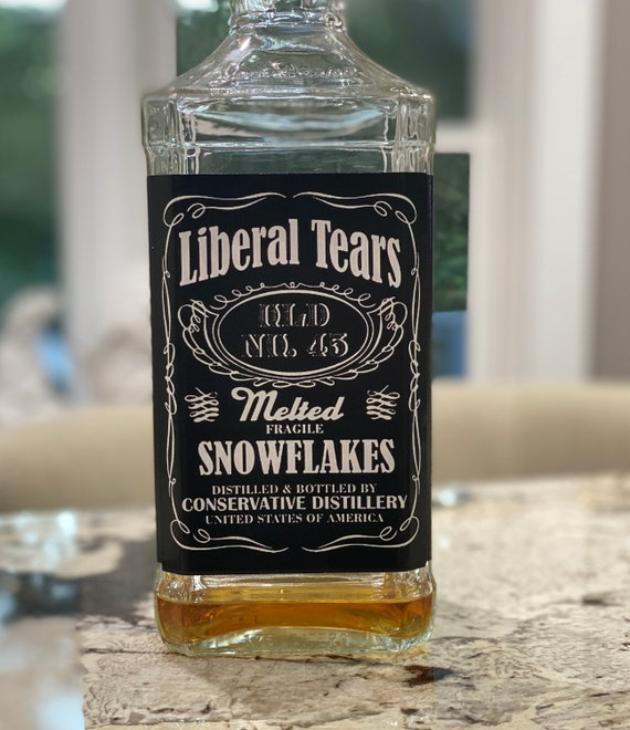 Liberal Tears, Trump Gifts, Naughty Gift, Republican Gift, Political Gifts, Liquor labels, Adult Gift, Melted Snowflakes, Donald Trump