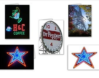 10 Pack Greeting Card Set | Thank You Card Set | Roanoke Virginia Cards | Notecard Set | Virginia Landmarks | Send Positive Thoughts