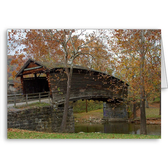 Humpback Bridge, Landmark Card, Covered Bridge, Scenic Card, Happy Birthday, For Boyfriend, For Girlfriend, Send Positive Thoughts