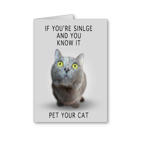 Funny Break Up Card, Sarcastic Card, Funny Snarky Card, Singles Card, Valentine's Day Card for single person, Send Positive Thoughts