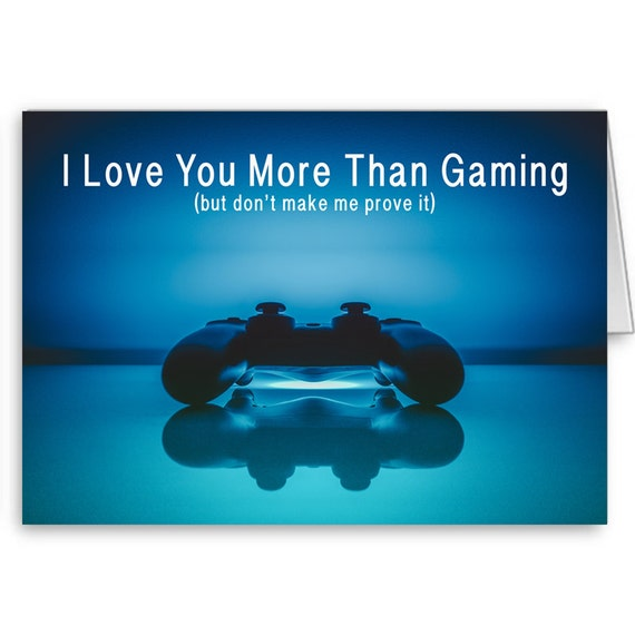 Valentine's Card for her, Card for Gamers, Funny Birthday,  I'm Sorry Card, Gift for Gamers, Video Game Card,  Send Positive Thoughts