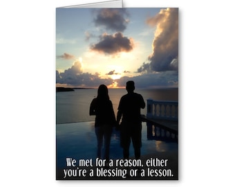 Funny Anniversary, 1st Anniversary, Sarcastic Card, Card for Boyfriend,For Girlfriend,For Husband,For Wife,Valentine, Send Positive Thoughts
