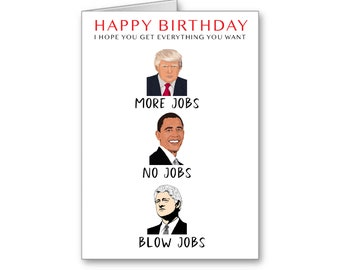 Funny Trump Digital Download, Trump Birthday, Funny Trump Card,Political Card, Birthday Wishes,Your Birthday will be Yuge! Mexico Pay for it