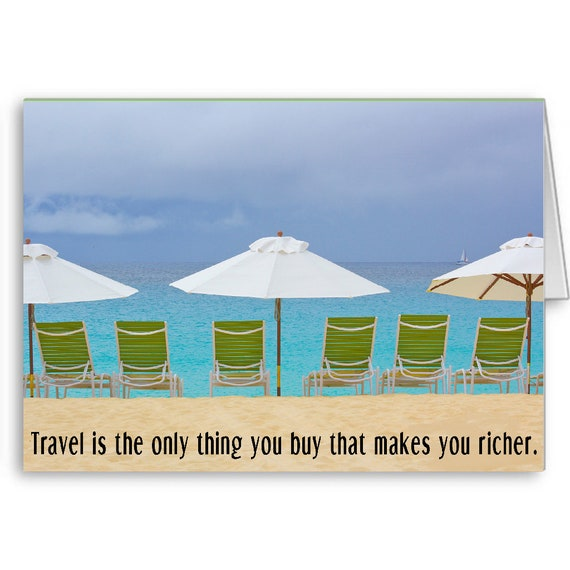 Quote Card, Travel card, Bucket List Card, Vacation Card, Graduation Card, Anguilla Beaches, Honeymoon vacation, Send Positive Thoughts