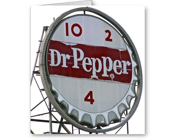 Dr. Pepper Sign, Roanoke VA, Roanoke Landmark, Dr. Pepper Card, Birthday Card, Send Positive Thoughts10 2 4, Blank Greeting Card