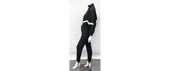 Vintage 1980s Outfit Oversize Top + Stirrup Pants… - image 2
