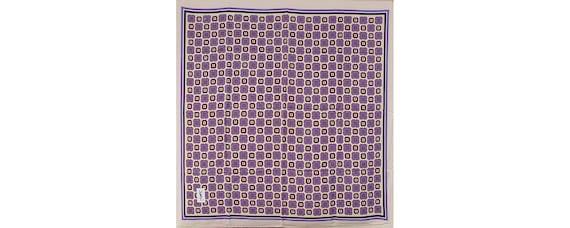 Vintage 1970s YVES SAINT LAURENT Silk Scarf Oversi