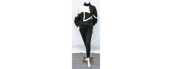 Vintage 1980s Outfit Oversize Top + Stirrup Pants… - image 1