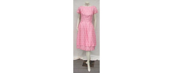 Gorgeous Vintage 1950s GIGI YOUNG Dress Pink Silk