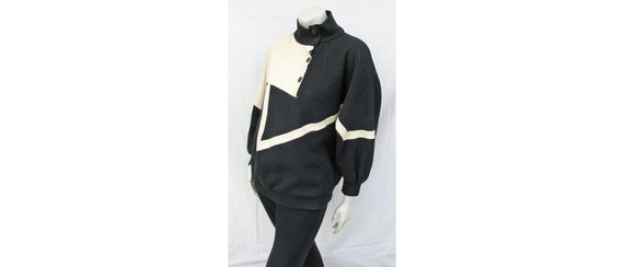 Vintage 1980s Outfit Oversize Top + Stirrup Pants… - image 4