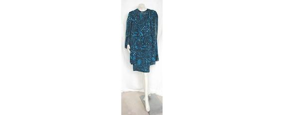 Vintage 1980s PAULINE TRIGERE 2-Pc Dress Batik Pri