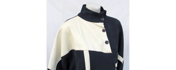 Vintage 1980s Outfit Oversize Top + Stirrup Pants… - image 5