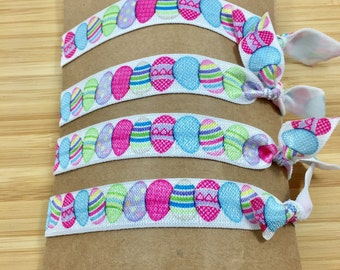 Easter Hair Ties, Stretchy Pony Tail Holder, Easter Gift, Stocking Stuffer, Birthday Party Favors, Hair Tie Gift Set, Easter Basket