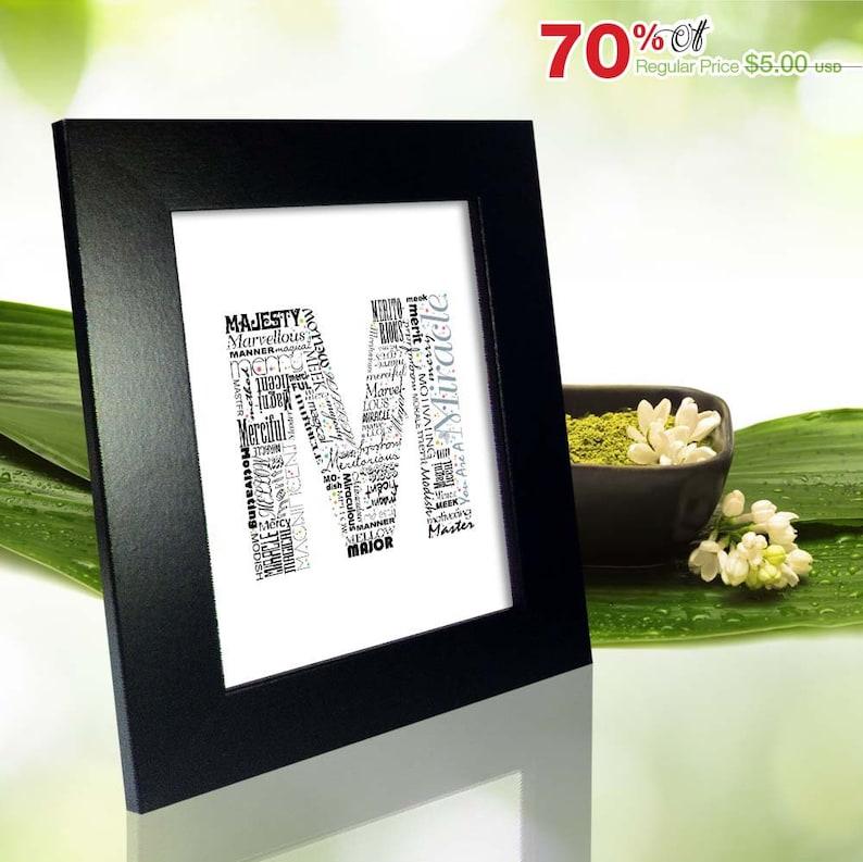 Positive Words Start With Letter M Alphabet M Monogram