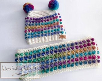 Crochet pattern - The Golden Collection - Rose - fall/winter fun beanie hat cowl