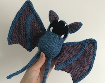 Zubat pokemon knitting pattern pokemon pattern knit knitted bat plushie toy amigurumi pdf pattern halloween decoration