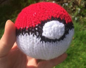 Pokeball pokemon ball toy knitted ball stress ball stuffed toy plushie