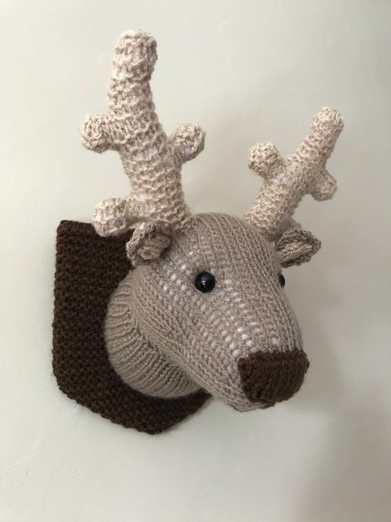 Deer Head Knitting Pattern Faux Taxidermy Animal Head Moose Etsy