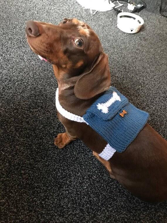 Perro pequeño nuevo paquete bolso hecho punto mochila de   Etsy